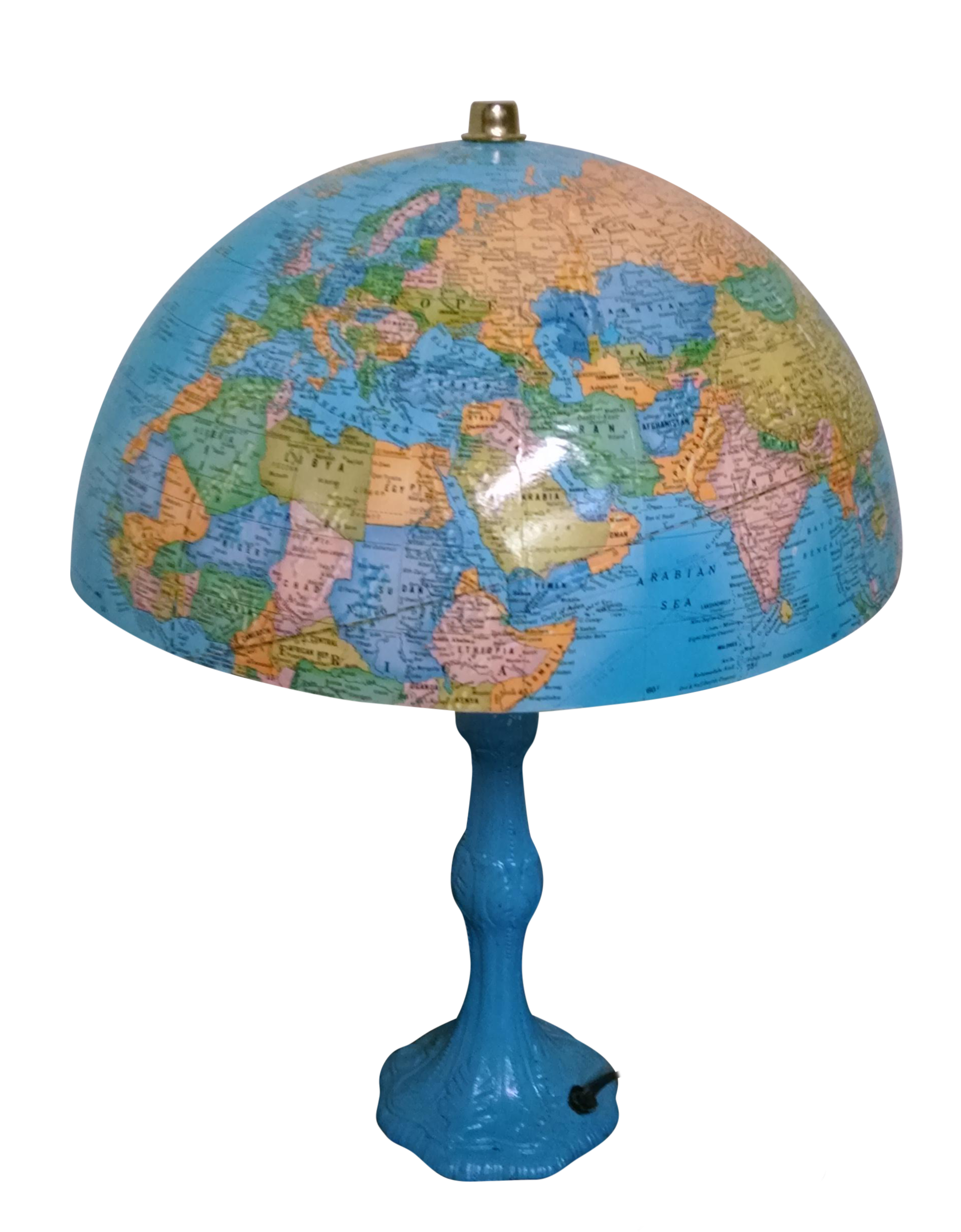 lamp ceramic tall blue lamps top glass white design ribbon table pink globe