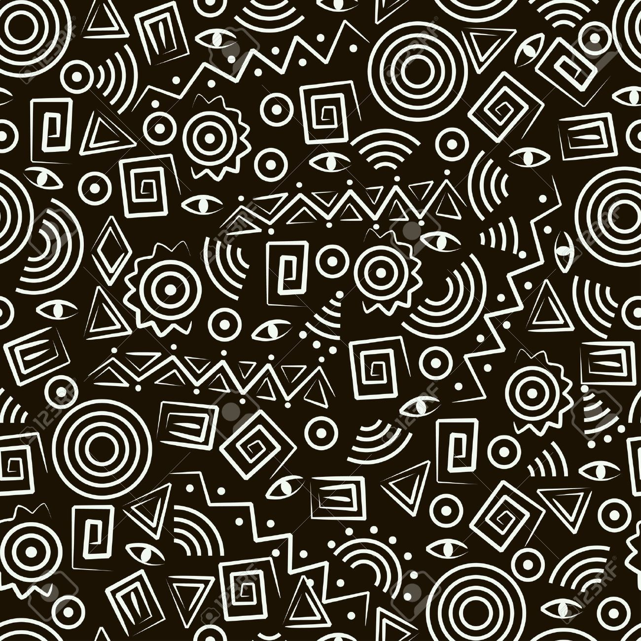 9473012-Tribal-art-Seamless-pattern-with-abstract-figures ... - photo#25