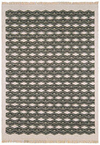 Teppich Wohnzimmer Carpet kurzflor orientalisches Design KELIM - Teppich Wohnzimmer Braun