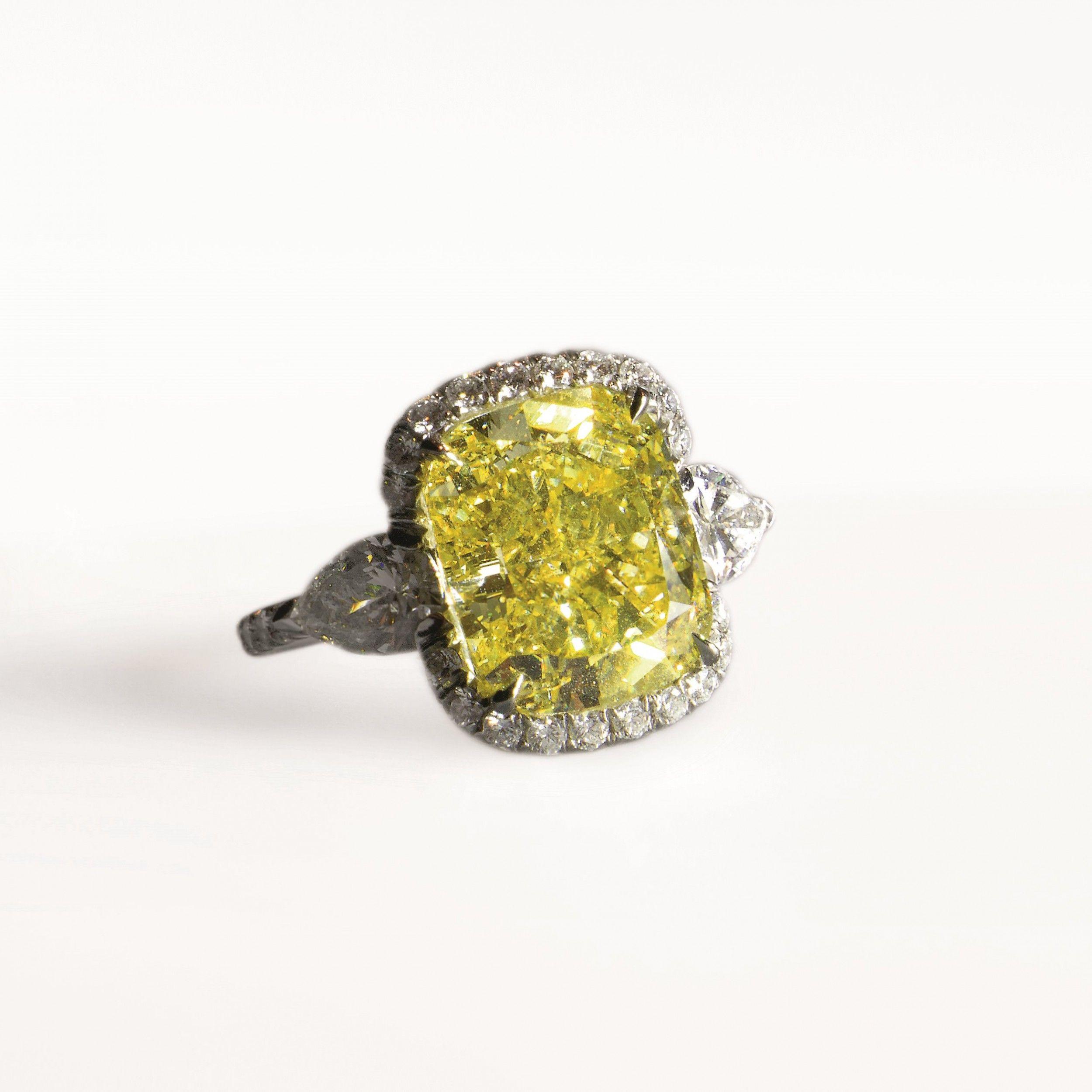bague diamant jaune harry winston