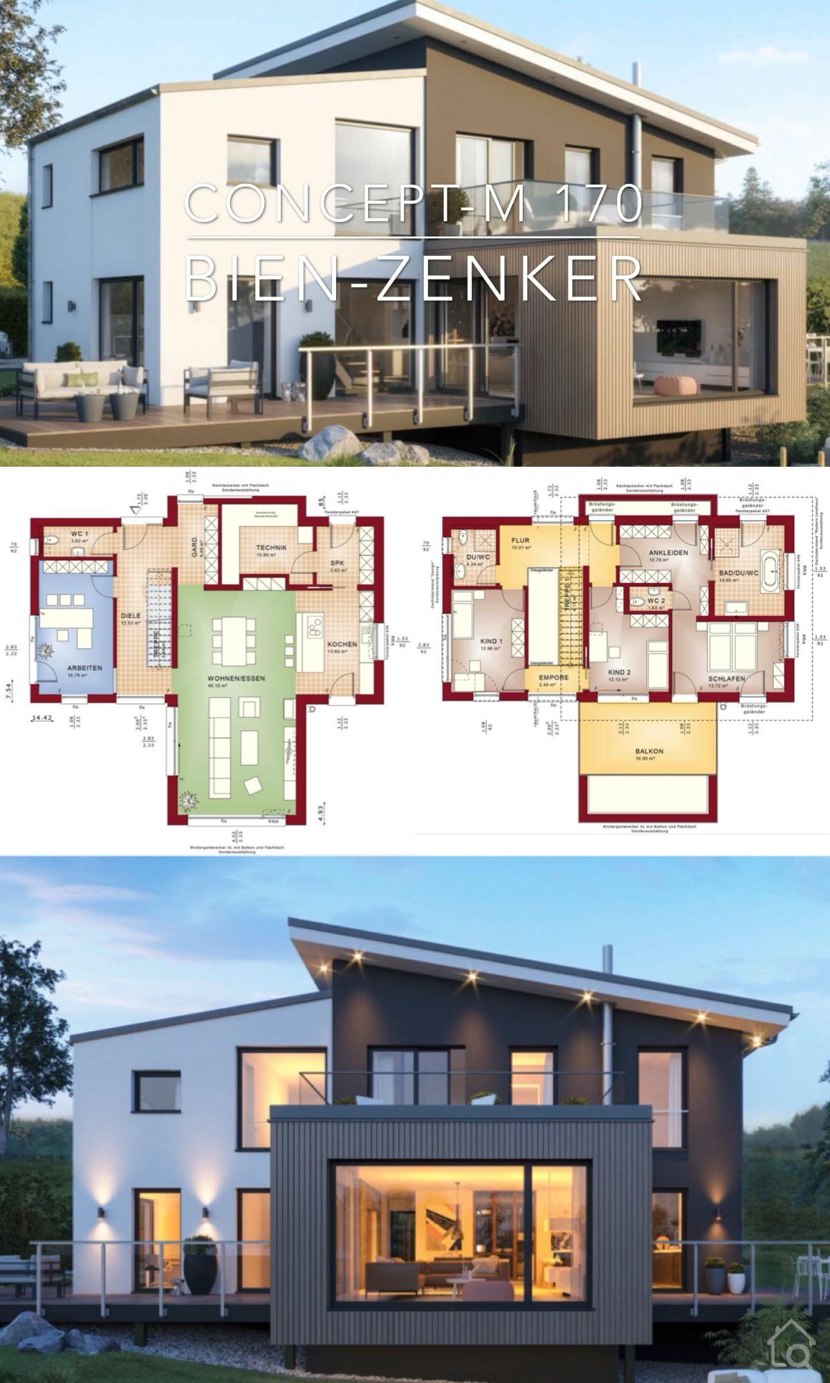 Modern Villa Architecture Home Plan & Innenarchitektur – Concept-M 170