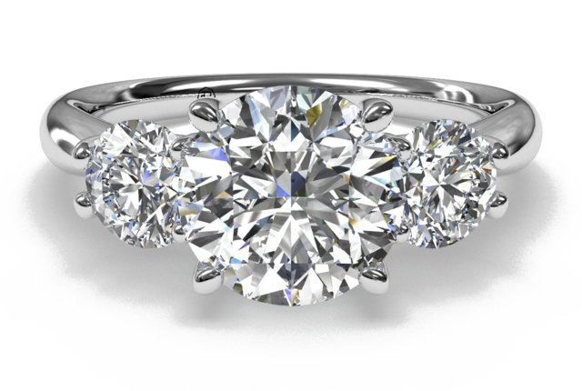 Ritani Three-Stone Diamond Engagement Ring at London Jewelers!