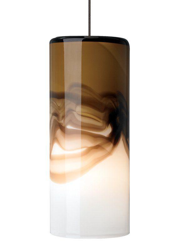 Lbl lighting rio brown gray 50w monopoint 1 light mini pendant lightingdirect com