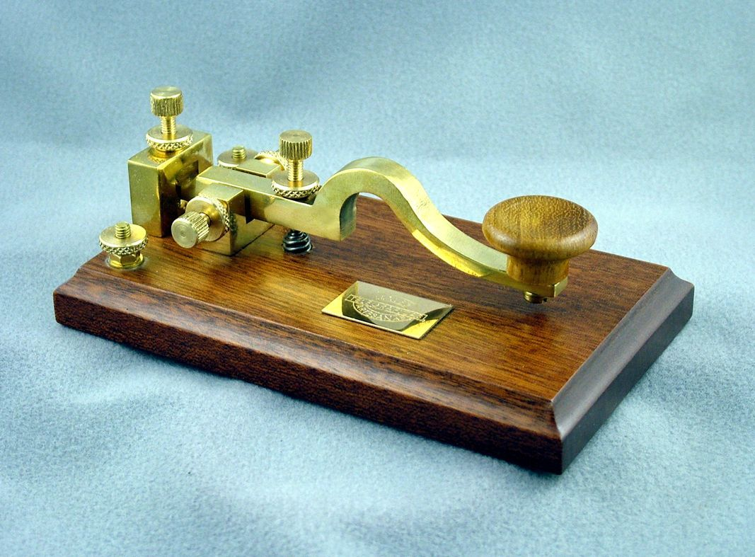 AMCC Antique European Camelback style key on oak base