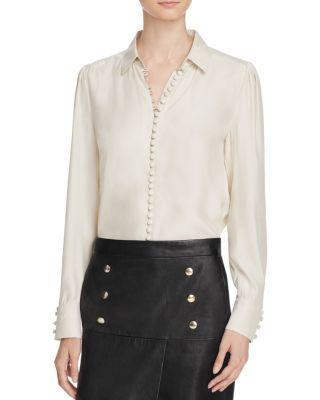 87ed362b0036d FRAME Up Silk Blouse.  frame  cloth  blouse. Frame taps the Victorian era  ...