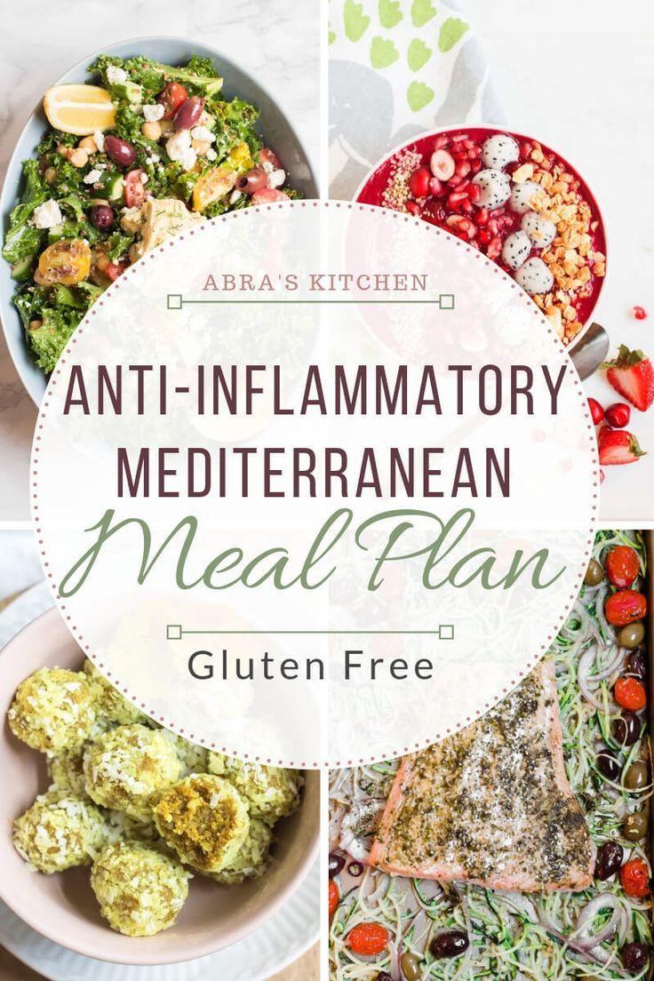 Anti-Inflammatory Mediterranean Meal Plan (Gluten Free) -   11 gerd diet Recipes ideas
