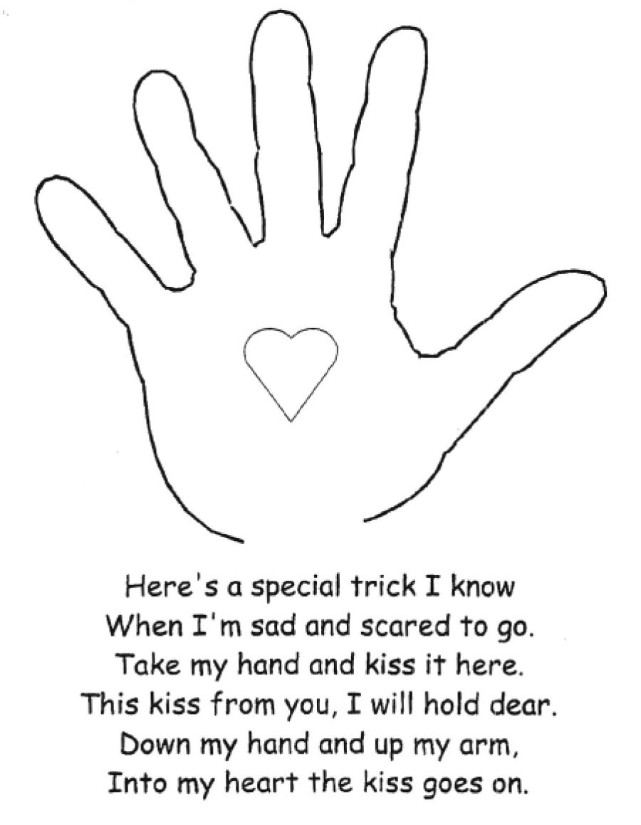the kissing hand activity teaching pinterest kissing hand