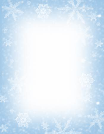 Top Rated free snowflake letter borders with no watermark - Holiday Templates For Word