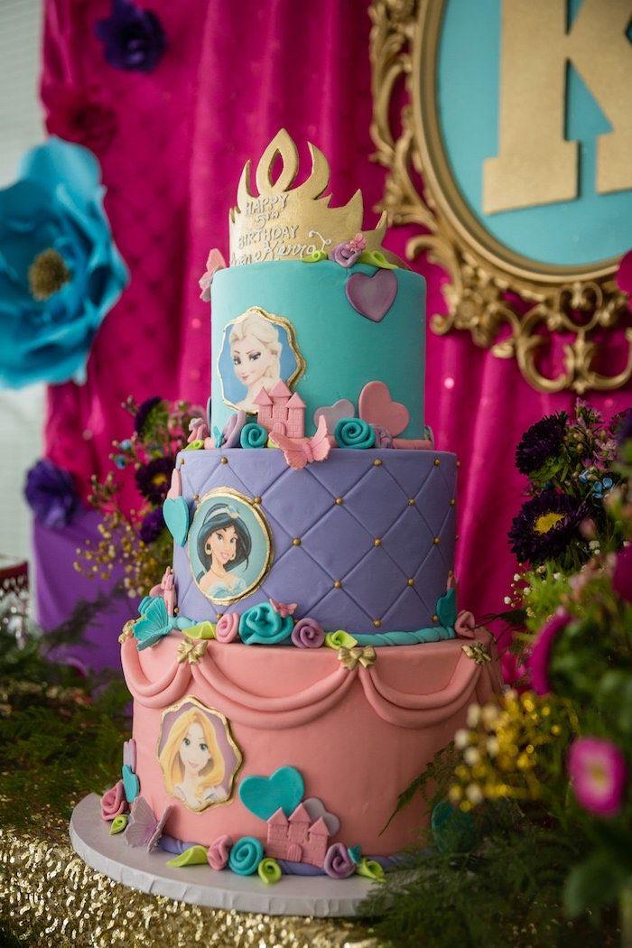 Birthday Party Cake From Princess Royal Ball At Karas Ideas See More