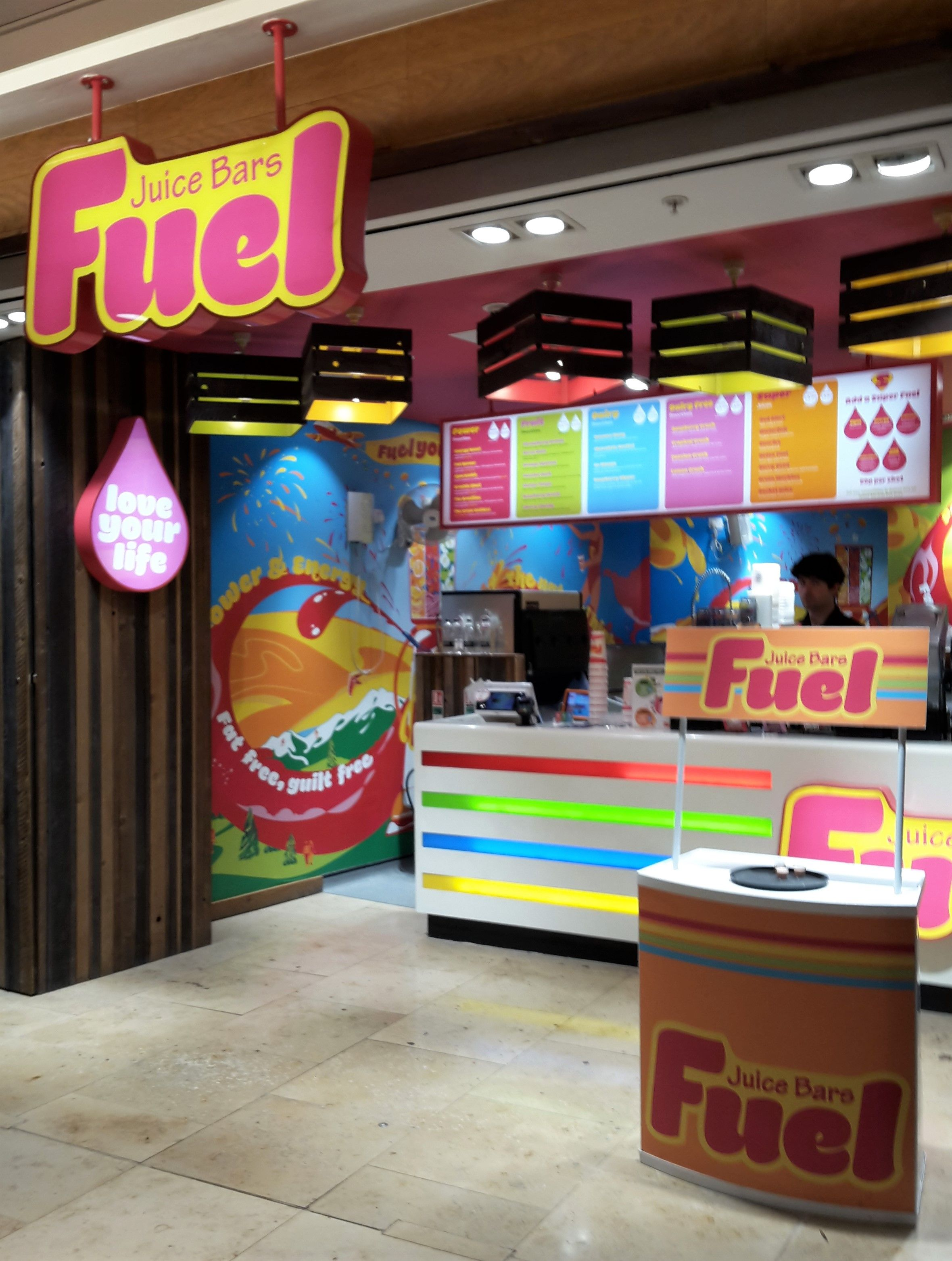 Fuel Juice Bar Bullring Link Street Birmingham Juices