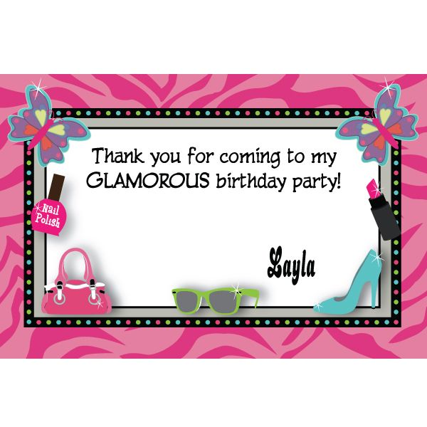 Glitzy Girl Personalized Invitations Free Shipping Offer 50 Off