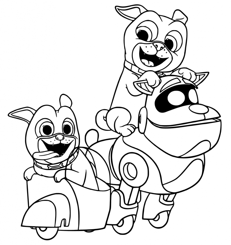 Puppy Dog Pals Coloring Pages coloring.rocks! Coloring