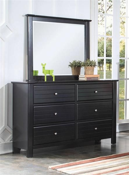 Acme Furniture Mallowsea Black Dresser And Mirror Black Bedroom