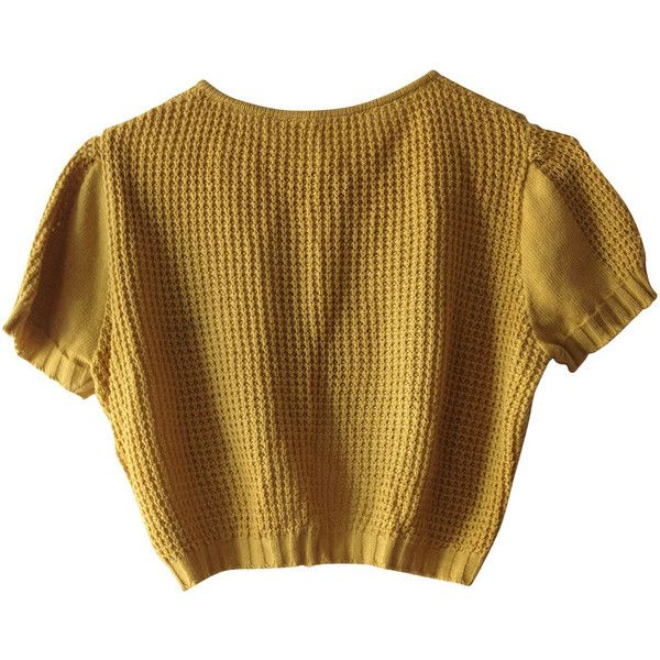 773c049bc80 Pre-owned Cardigan in mustard yellow ($76) ❤ liked on Polyvore ...