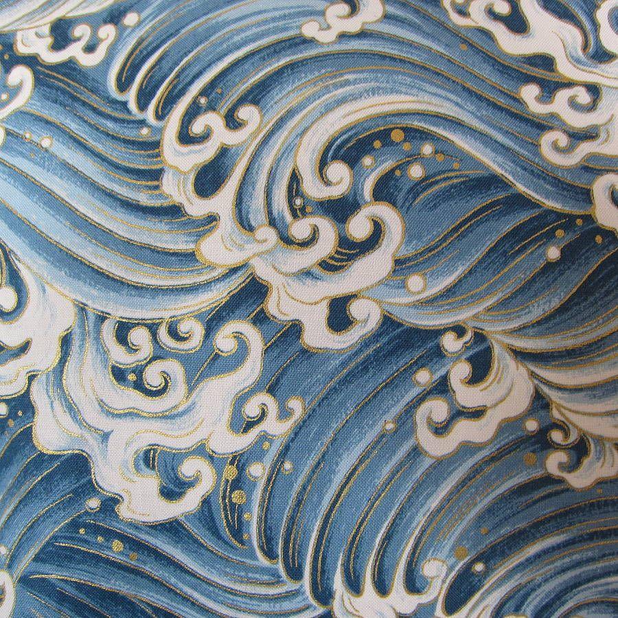 Japanese Ocean Cushion | Ocean, Japanese and Ocean waves