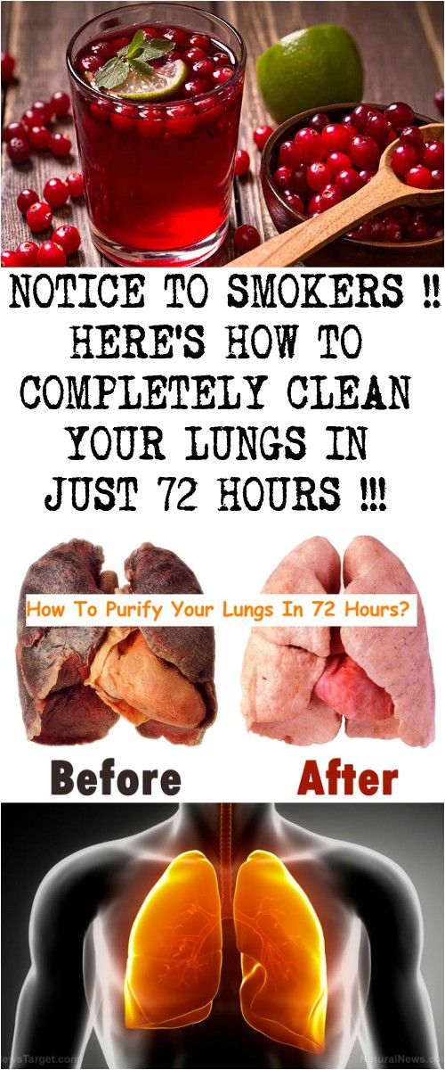Notice To Smokers Here S How To Completely Clean Your Lungs In Just 72 Hours Healing Food Lung Cleanse Detox Food