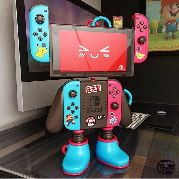 Nintendo Switch Robot Adrian Design Mty Video Game Room Design Retro Games Poster Game Room Design