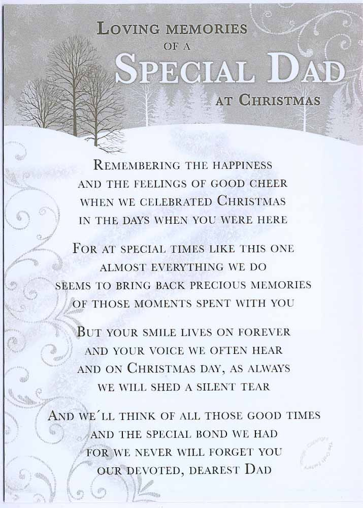 Christmas Grave Card Special Dad Free Holder C110