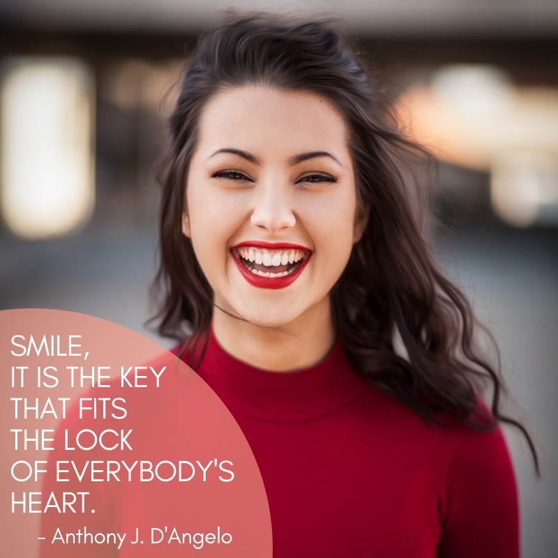 ️ SMILE, IT IS THE KEY THAT FITS THE LOCK OF EVERYBODY'S