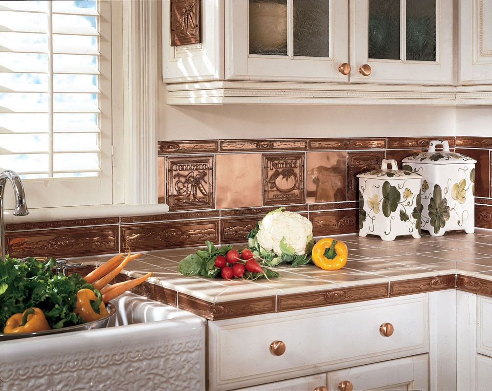 Metal Wall Tiles For Kitchen Kitchen Dining Metal Frenzy In Kitchen Copper Backsplash Ideas