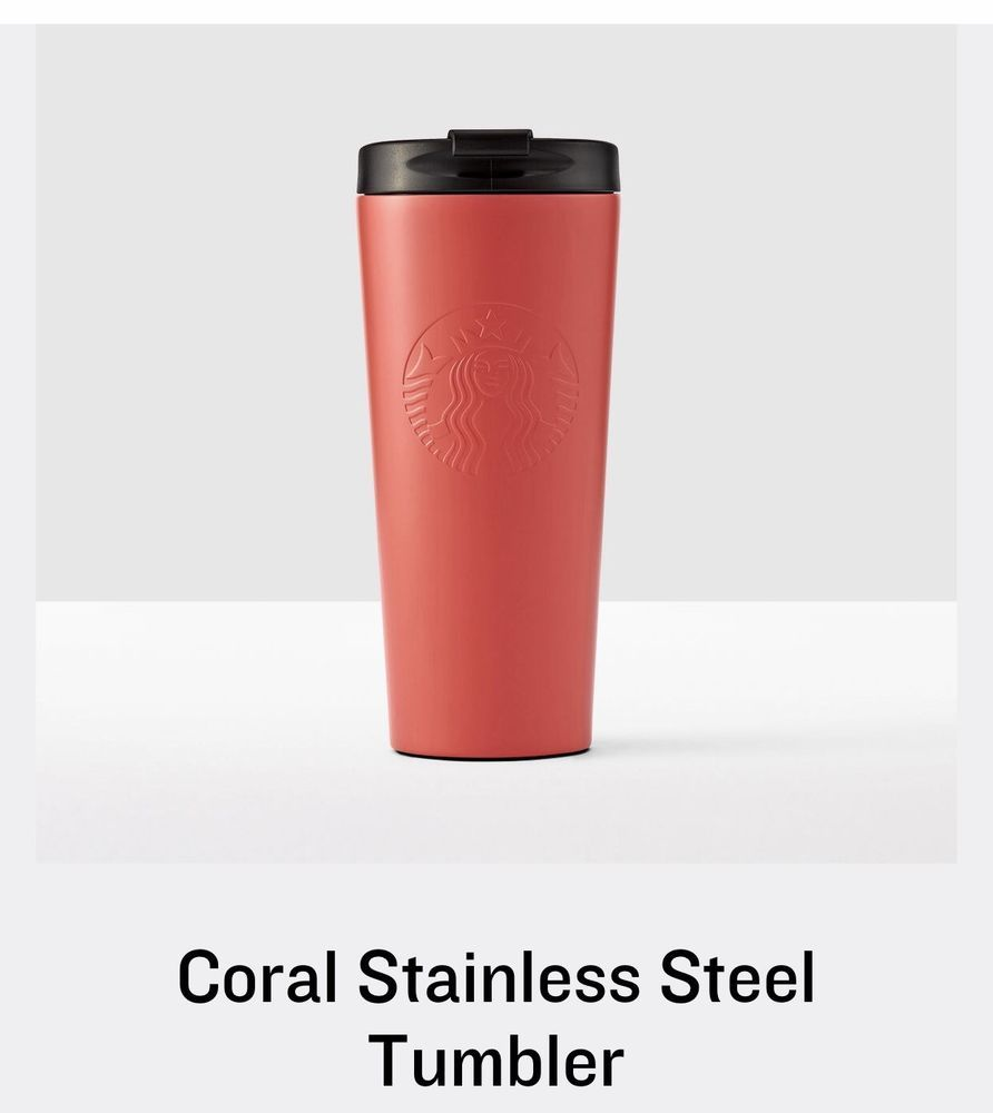 Starbucks Germany To Go Coral Mint Lid Tumbler Limited Edition