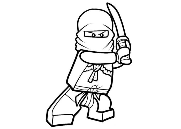 Ninja Lego Coloring Pages