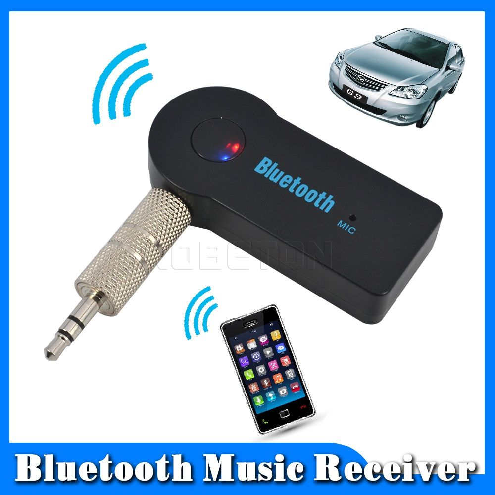 2016 Handfree Car Bluetooth Music Receiver Universal 3 5mm Streaming A2dp Wireless Auto Aux Audio Adapter With Mic Car Bluetooth Bluetooth Audio Audio Adapter