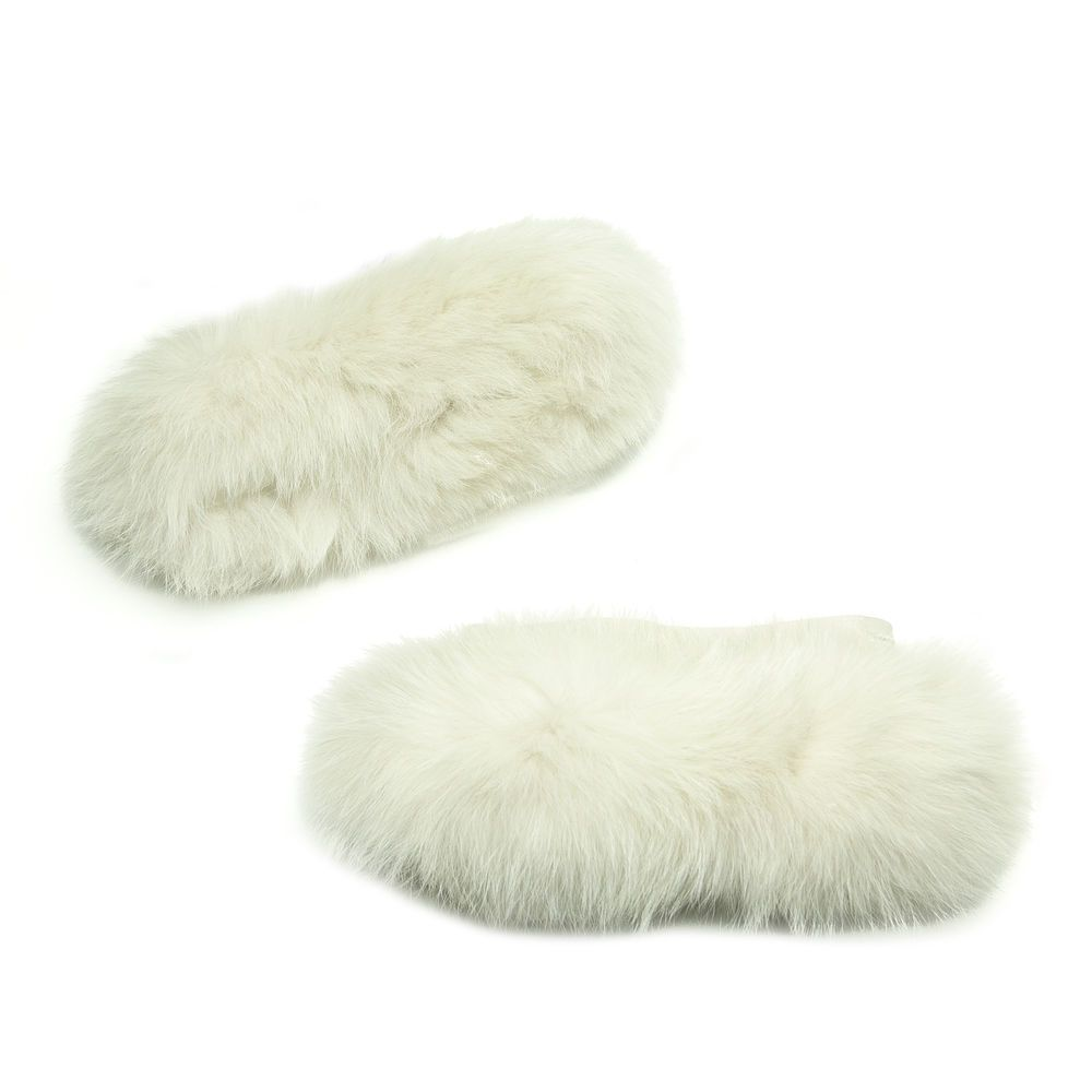 Turquoise Fox Fur Cuffs: MAX MARA Women's Pechino Ice Fox Fur Cube Collection Cuffs