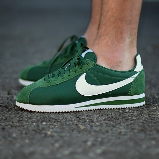 28d4014a6b0 Nike Cortez Nylon  Green