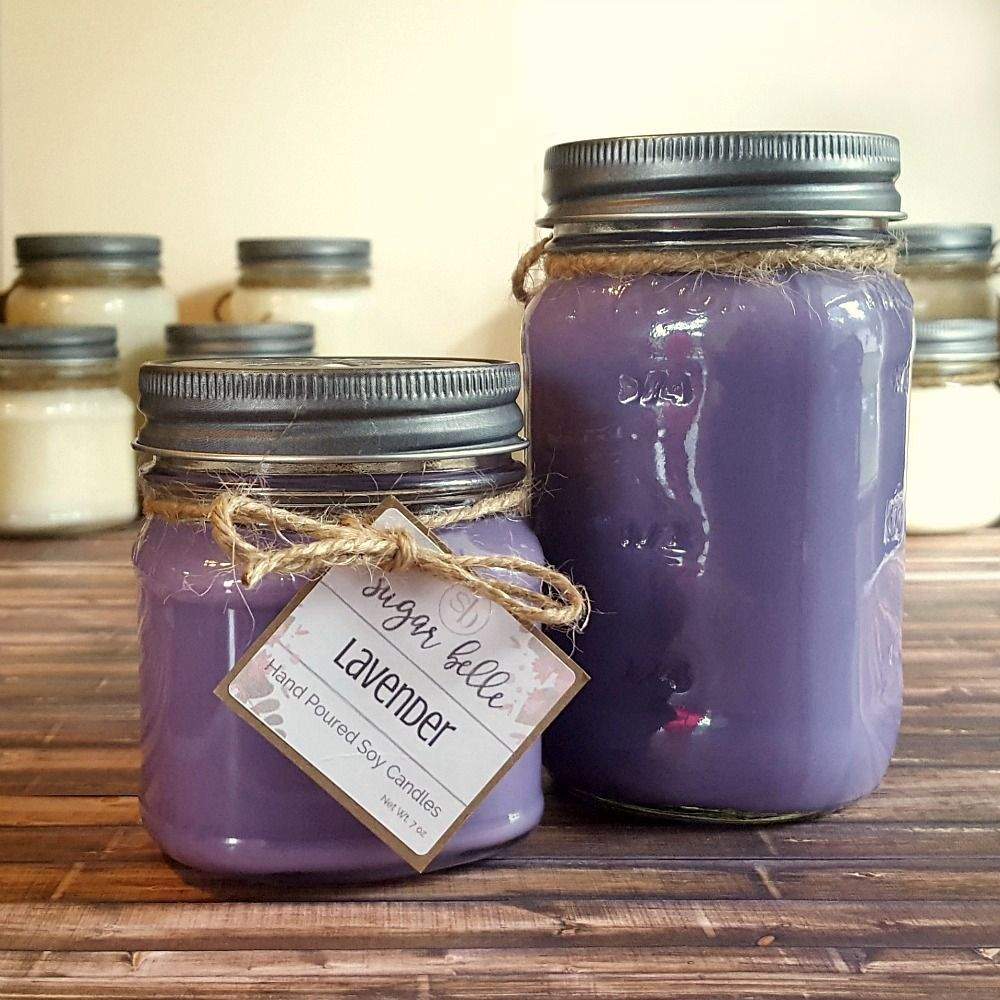 Lavender Mason Jar Candle - Sugar Belle Candles