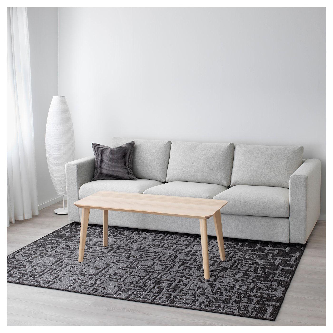 IKEA GLUMSÖ Rug, flatwoven dark gray Ikea grey rug