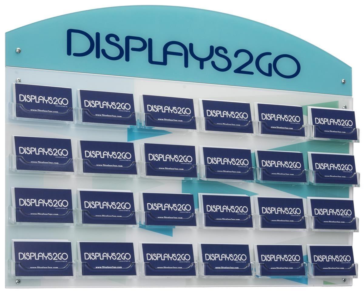 Workshop Series 24-Pocket Business Card Holder for Wall, Custom ...