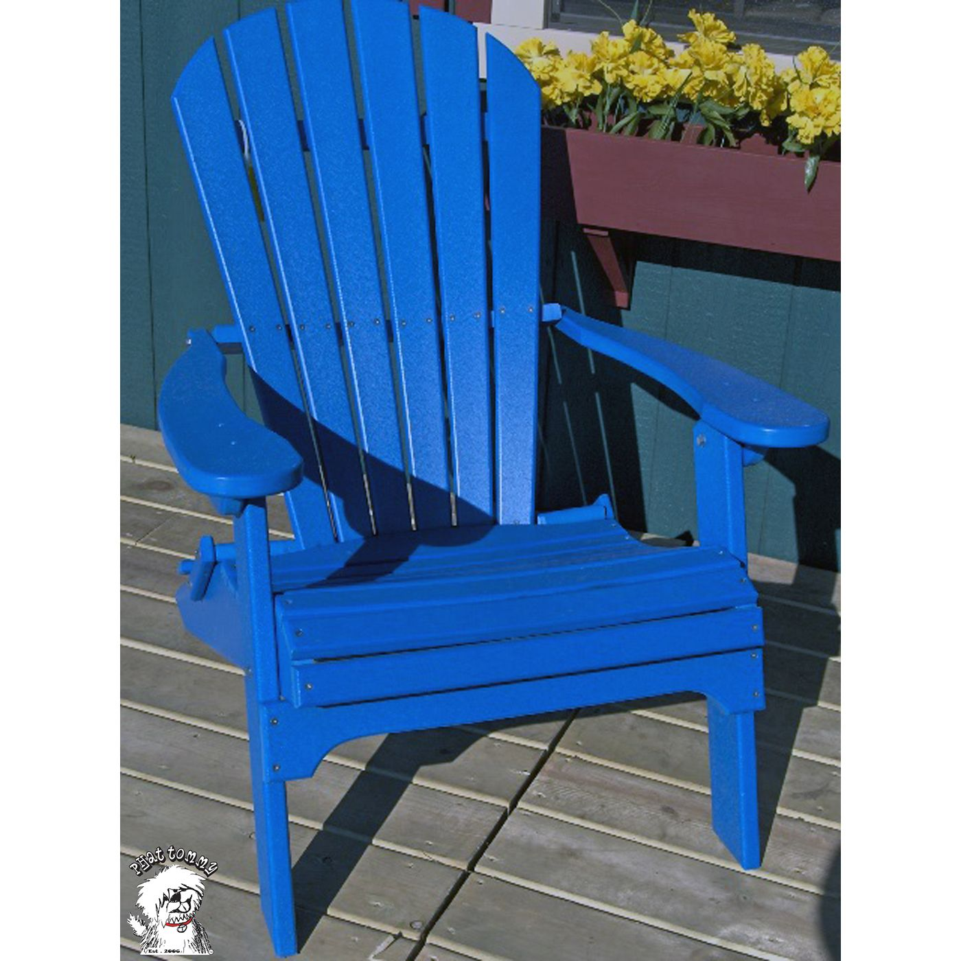 Phat Tommy Folding Recycled Poly Adirondack Chair Poly