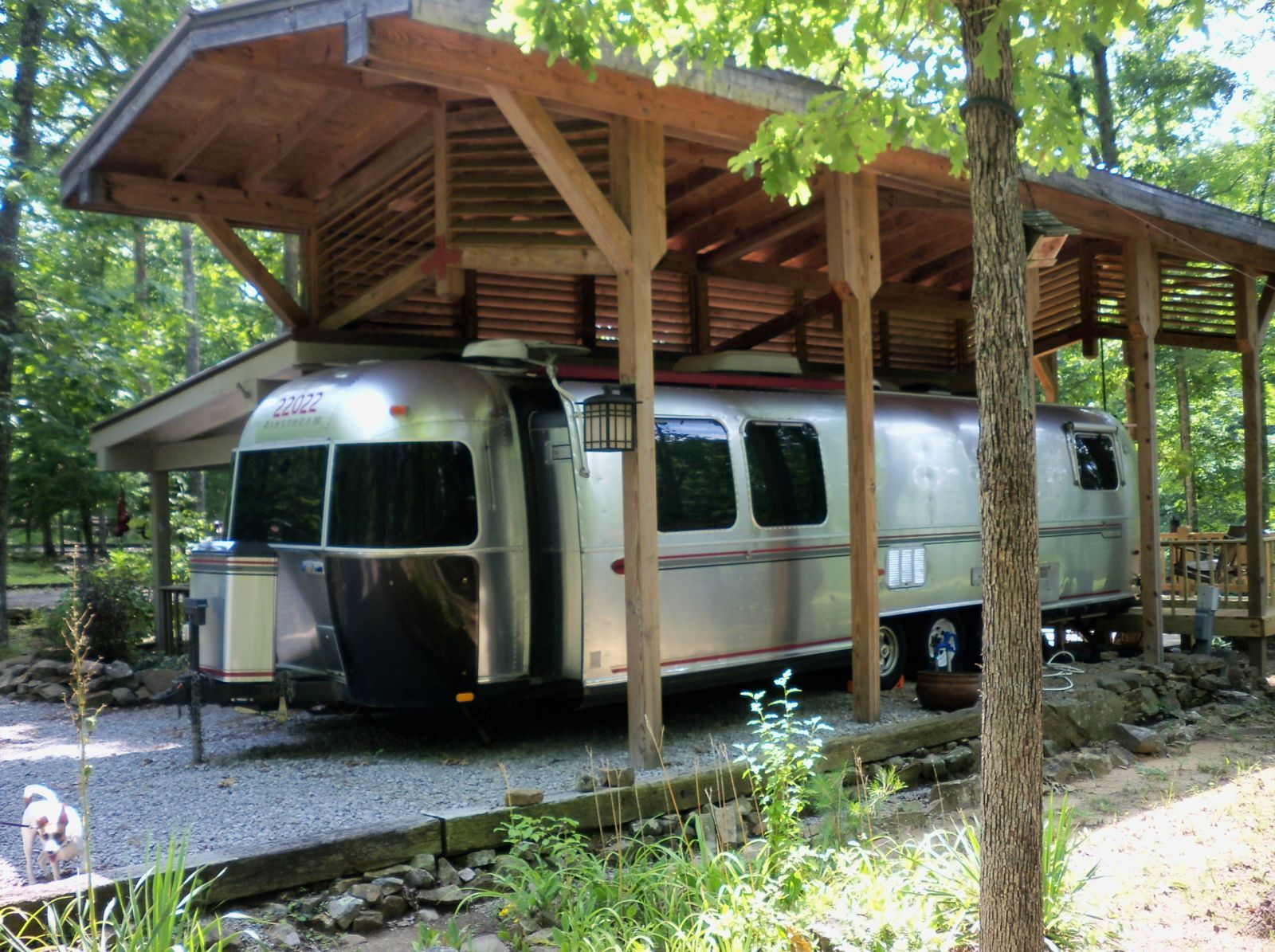 Homebase for the Airstream Rv homes, Rv shelter