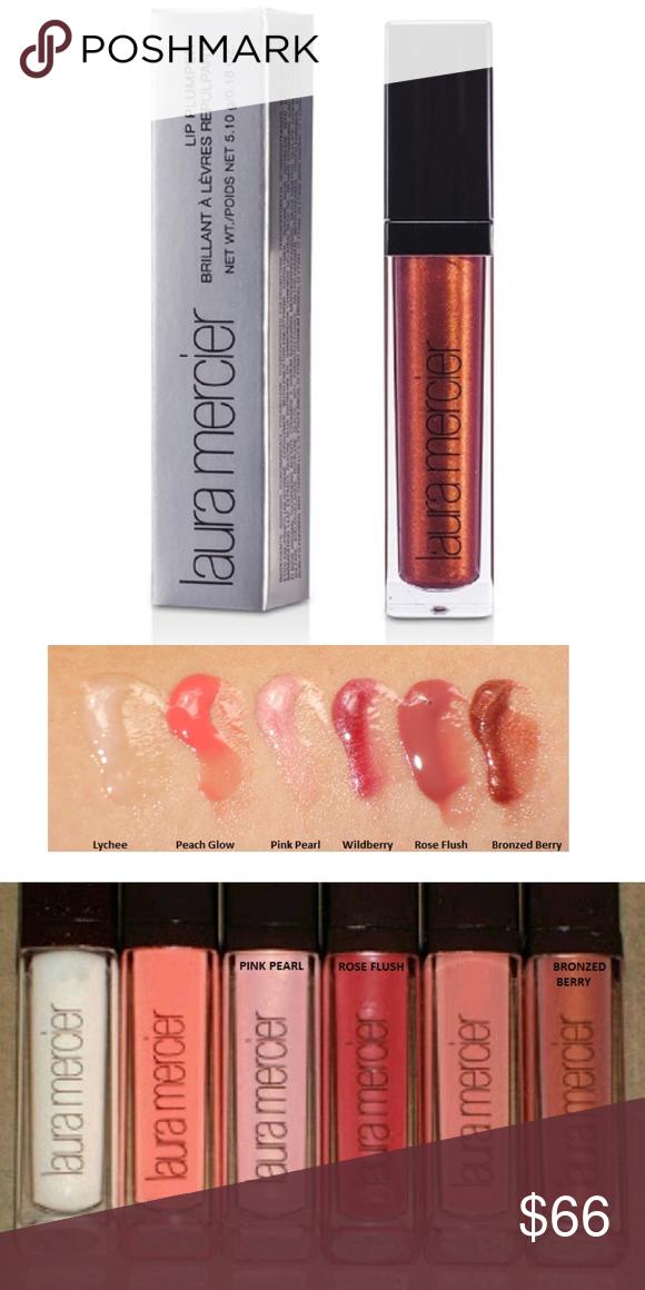 3pc Laura Mercier Bronzed Berry Lip Plumper Gloss Plumping Lip Gloss Lip Plumper Berry Lips
