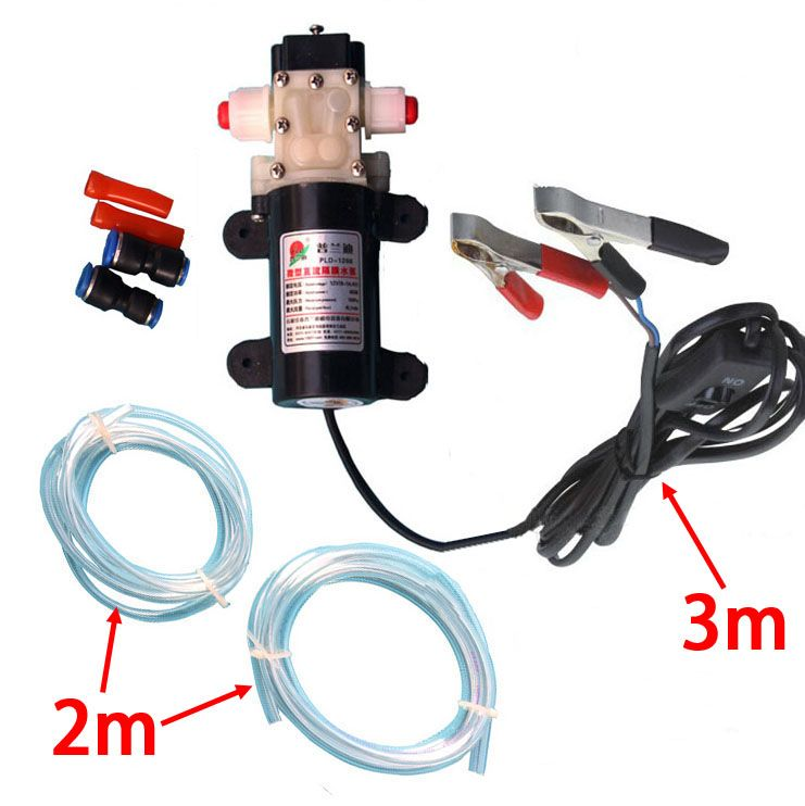Check New Professional Croco Clip Dc 12v Engine Oil Extractor Change Pump Electric