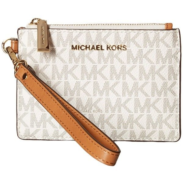 ac372c8a5012b6 MICHAEL Michael Kors Mercer Small Coin Purse (Vanilla) Coin Purse ($58) ❤  liked on Polyvore featuring bags, wallets, coin pouch, white wallet, change  purse ...