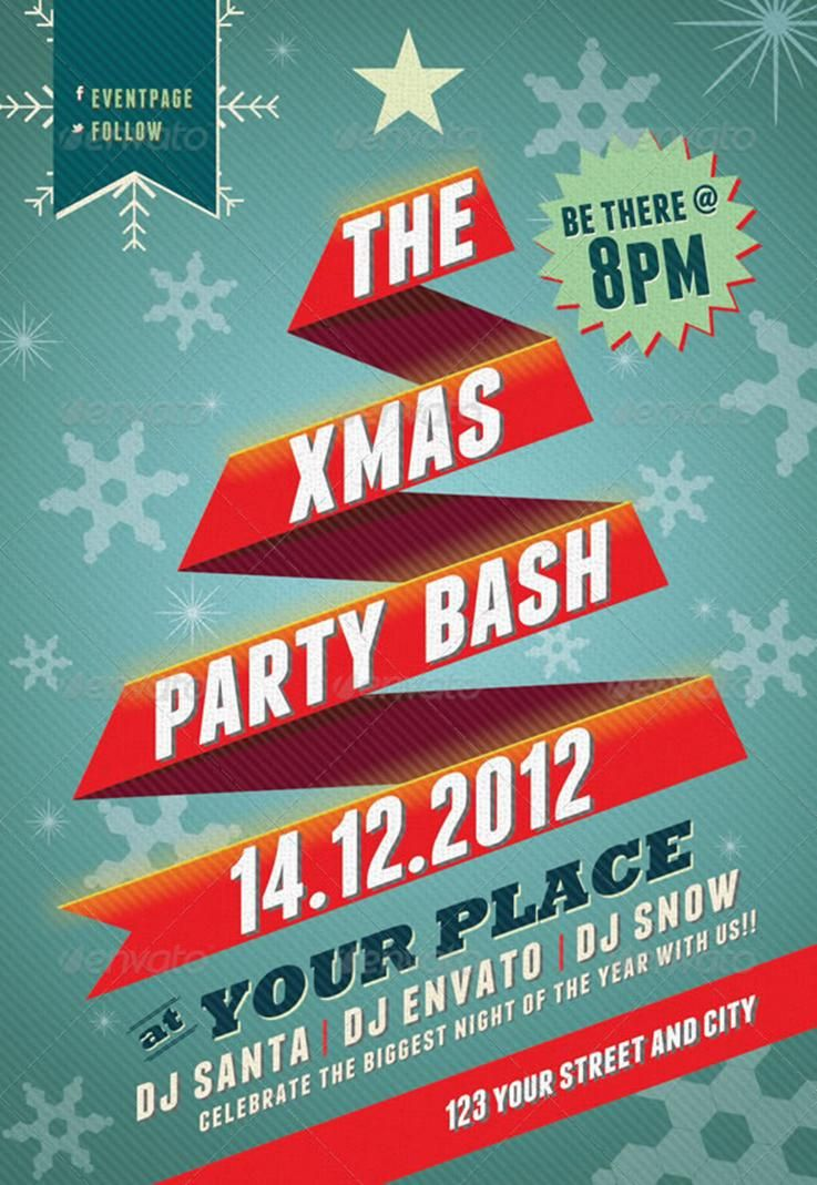 a clean and simple  yet vivid posters and flyer design templates for your christmas with a nice