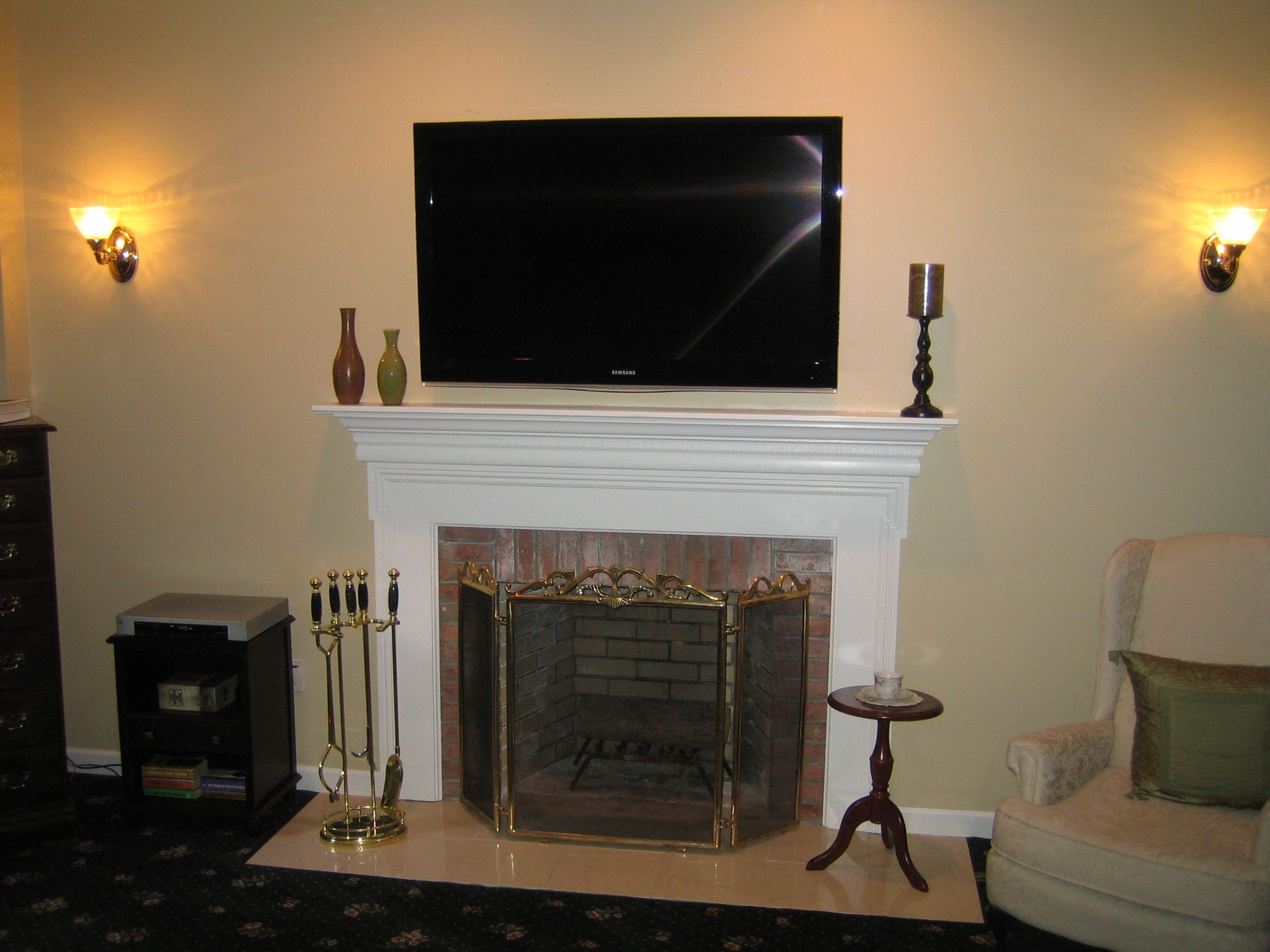 LLC - Audio/Video ... | TV above fireplace ideas | Pinterest | Mounted tv