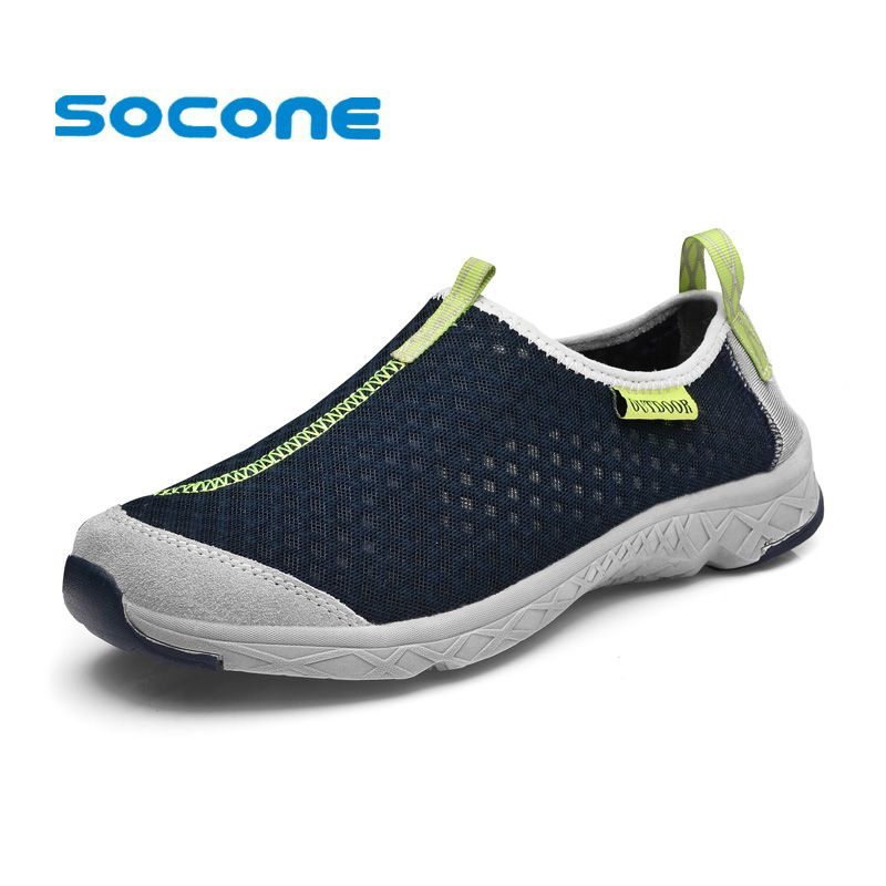 Men's Athletic Sneakers Air Mesh Lightweight Slip On Walking Shoes Horses Casual Running Water Shoes
