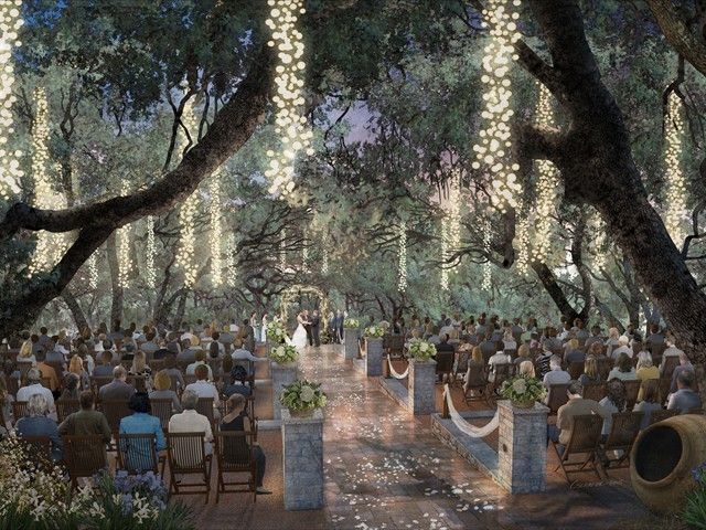 A venue to check out sacred oaks at camp lucy in austin texas austin weddings lighting event wedding party romantic outdoors see a little lighting outside is pretty it can be taken down the next day junglespirit Image collections