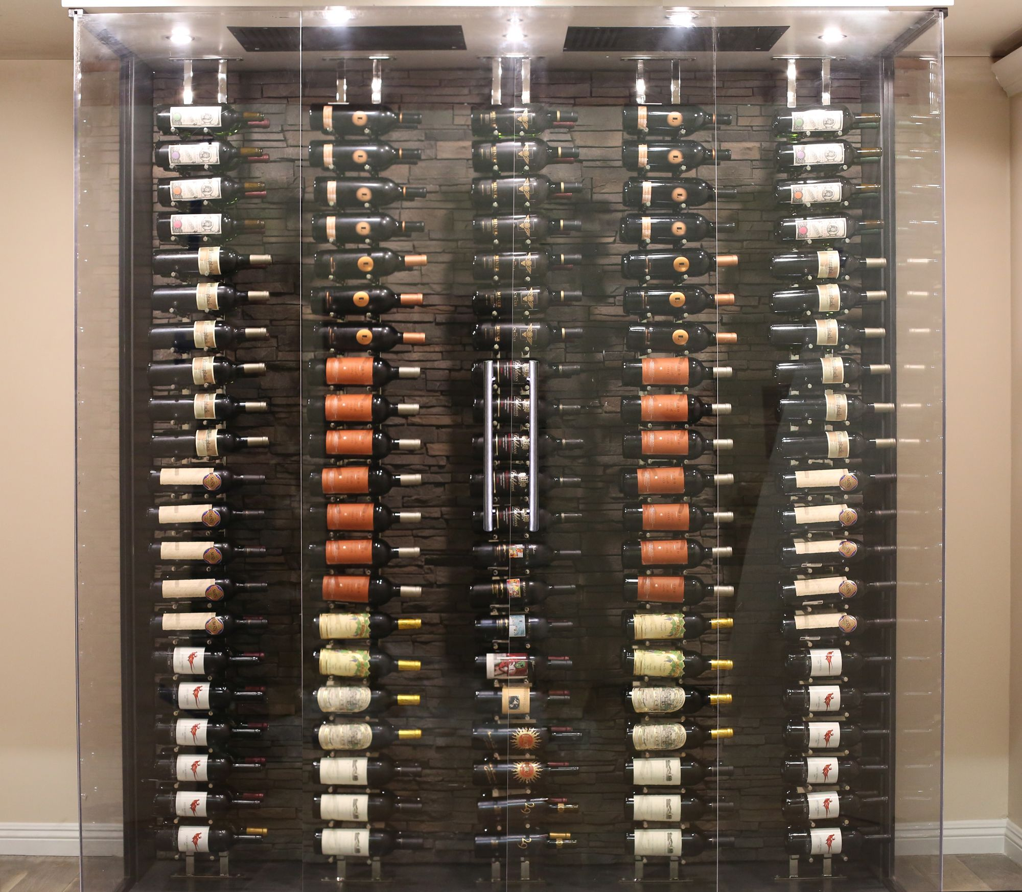 Another Cellar S Wine Collection Secured By Whisperkool Ceiling