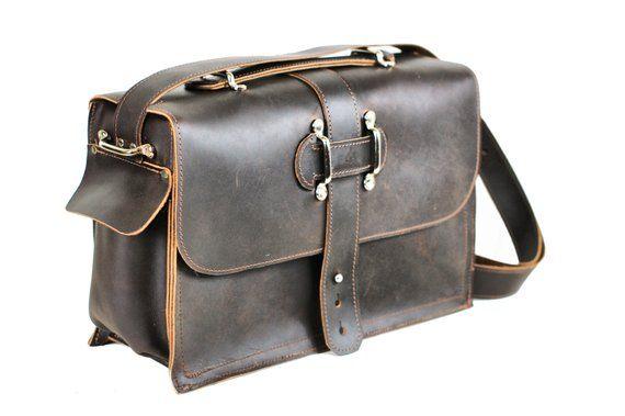 6c1959afbfc Men s Leather Satchel - Leather Messenger Bag - Leather Laptop Bag - Rustic  Industrial Briefcase Des