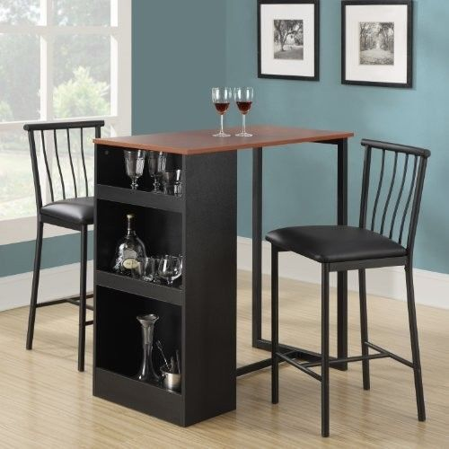 Bar Height Table Set Dinette Kitchen Counter Pub Bistro Stools Fascinating Dining Room Pub Table Sets Inspiration