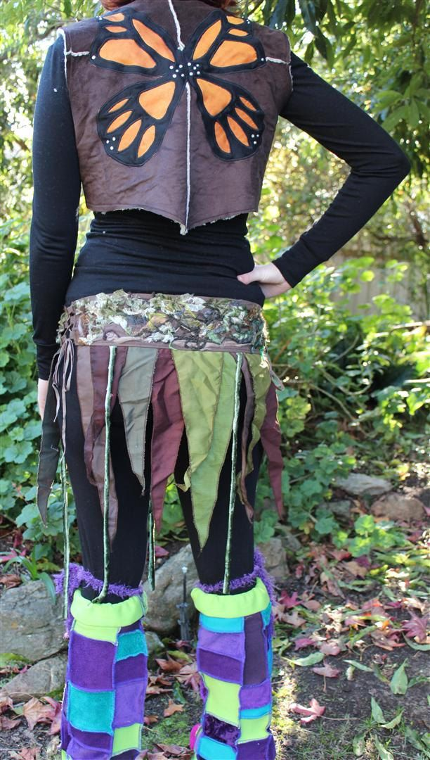 Green and Brown Forest Corset Skirt. $55.00, via Etsy.