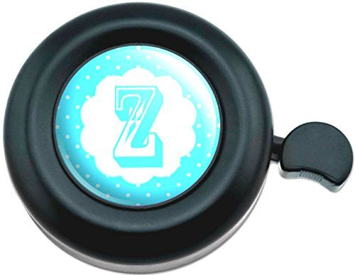 Cool and Custom {Fully Adjustable to Fit Most Bikes} Bicycle Handlebar Bell Made of Hard Metal with Retro Dot Letter Z Design {Black, Blue and White Colors} mySimple Products http://www.amazon.com/dp/B013F43ATA/ref=cm_sw_r_pi_dp_lVWFwb0YYKXYT