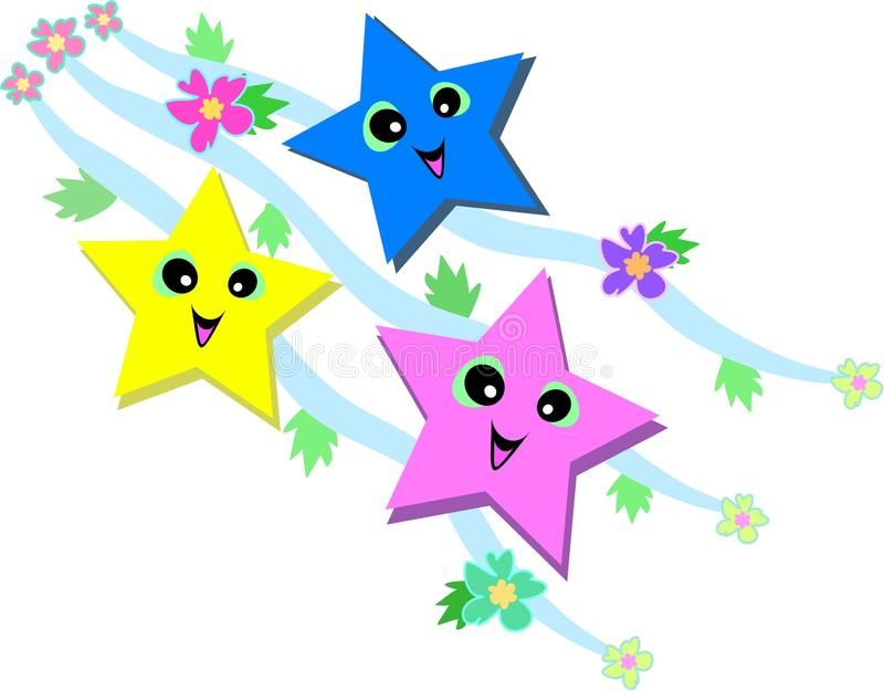 Happy Stars Here Are Three Happy Stars Surrounded By Ribbons Flowers And Leav Sponsored Sponsored Sponsore Free Clip Art Clip Art Borders Star Clipart