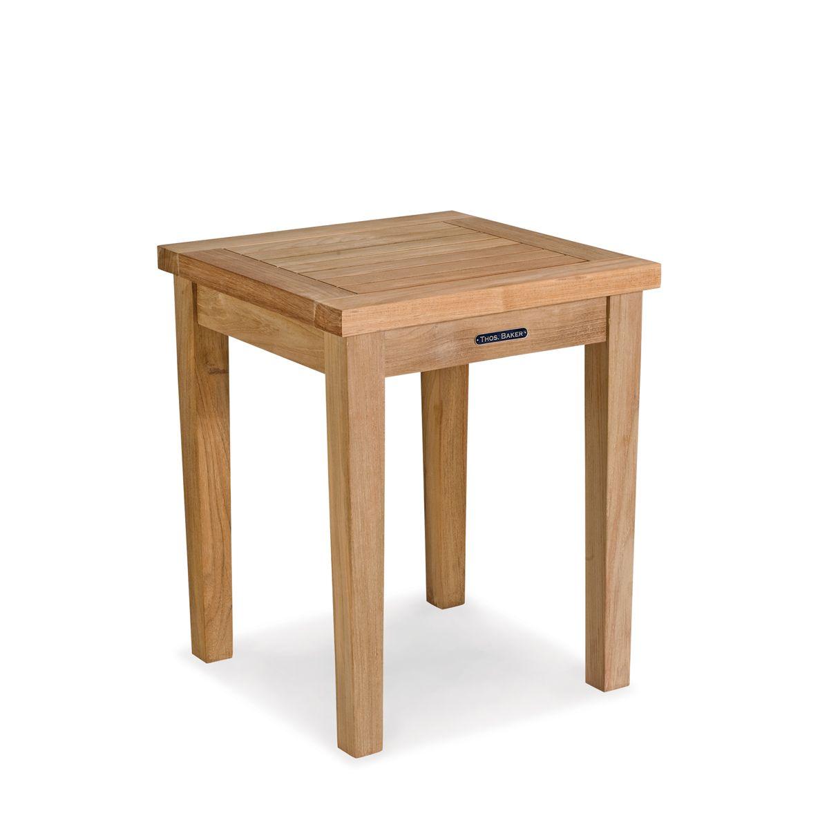 Teak Patio Side Table Veranda Collection By Thos Baker Veranda