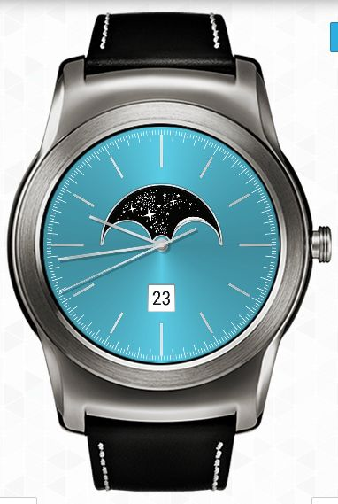 SW Minimalist Moon Phase Watchface for watches Android