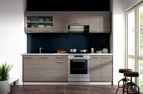 Küche Dave 240 cm Küchenzeile   Küchenblock variabel stellbar in - kleine küchenzeile mit elektrogeräten